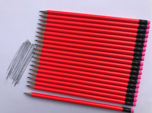 50 x  HB Pencils With Eraser Rubber Tip Office School Craft Art Drawing Brea