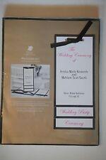 Great Papers Black Border Waterfall Satin Ribbon Wedding Program Kit, 50 Pack