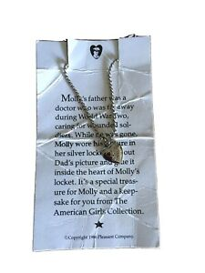 American Girl Molly's Heart Locket Pleasant Company