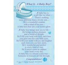 WHAT IS A BABY BOY - PURSE WALLET KEEPSAKE VERSE PRAYER CARD - OTHERS ARE LISTED