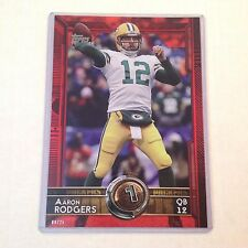 #357 Aaron Rodgers California Packers T60 #/25 made Red Version 2015 Topps 5x7