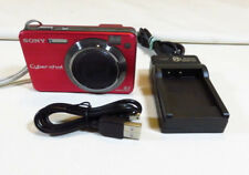 Sony Cyber-shot DSC-W150 8.1MP Digital Camera - Red w/ charger + memory stick