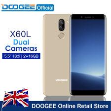 "5.5"" DOOGEE X60L Smartphone Gold 2GB/16GB Android 7.0 Dual Camera Phone 3300 mah"