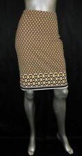 BANANA REPUBLIC Yellow/Black Geometric Print Stretch Back Zip Pencil Skirt sz 2