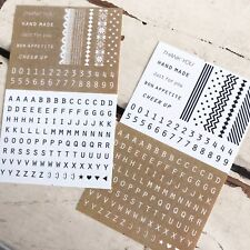 Alphabet & Number Stickers - Stationery Scrapbooking Black Brown Black Korean