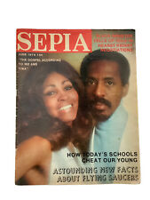 SEPIA MAGAZINE JUNE 1974 WITH IKE AND TINA TURNER ON THE COVER