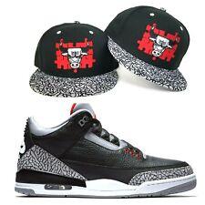 69bf70397a3 New Era Chicago Bulls snapback hat Jordan 3 Black Cement