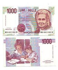 Italia 1000  1.000 lire Montessori  1998 serie H   pick 114c