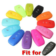 Silicone 3 Button Remote Key Case Cover For FORD FOCUS MONDEO KUGA FIESTA FUSION