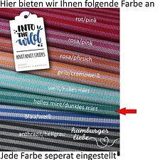 Hamburger Liebe Knit Knit Maxistripes mint hell und dunkel; Bio Jacquard Jersey