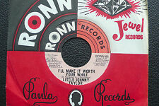 """7"""" Little Johnny Taylor - I'll Make It Worth Your While - US RONN"""