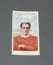 CIGARETTES CARD OGDEN'S 1926 FOOTBALL CAPTAINS 22 Mc KINLAY LIVERPOOL REDS