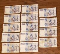 Italy 10000 Lire 1984 Banknotes Papermoney Lot of 14