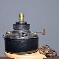 Vintage Oil Lamp Kerosene Lantern  Black