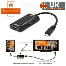 Micro USB to HDMI Cable MHL Adapter 1080p HD TV Android Phone Samsung  HTC UK
