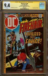 Showcase #85 CGC 9.4 Double Cover Signature Series JOE KUBERT 1st Firehair