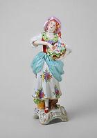9944294 Porzellan Figur Blumen-Händlerin Rokoko Kämmer H18cm