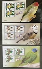 australia stamps finches of thailand 6 mini sheets mnh