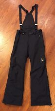 Spyder Men's Zip Off Bib Snow Pants Size Medium Black 153072