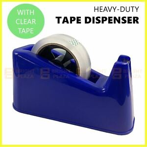 Heavy Duty Sticky Tape Dispenser Holder With Clear Tape Roll Packaging Office