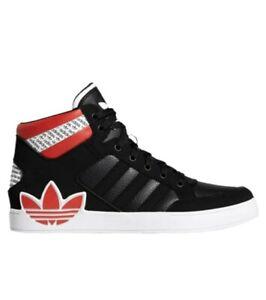 Adidas Originals Hardcourt HI men's sneakers shoes black/white/red FV6978