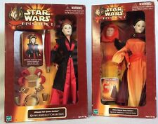 Star Wars Episode I Ultimate Hair & Hidden Majesty Queen Amidala Doll 2 Lot NEW