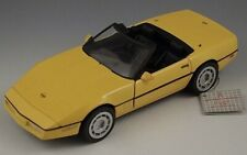 FRANKLIN MINT 1986 CORVETTE CONVERTIBLE 1:24 SCALE DIE CAST WITH TAG