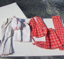 Vintage Barbie Doll White Plaid Outfit Rare Sears 1974 Mod Skirt Blazer Halter