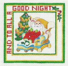 """""""To All a Good Night""""  Night Before ... HP Needlepoint Canvas Strictly Christmas"""