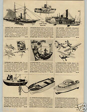 "1958 PAPER AD 16"" Toy Marlin Outboard Motor Cabin Cruiser Johnson Battery Ops"