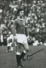 Franz Beckenbauer Alemania 12x8 foto firmada a mano.
