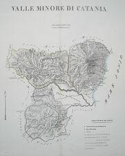 SICILIA_CATANIA_ETNA_CALTAGIRONE_NICOSIA_BELLA ANTICA CARTOGRAFIA_MARZOLLA_1830