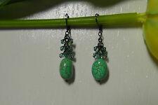 NEW Dabby Reid Ltd. Blue Crystal Cluster Drop Earrings