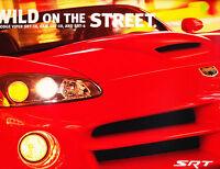 2003 Dodge SRT Original Car Sales Brochure - Viper SRT-10 Ram Truck Neon SRT-4