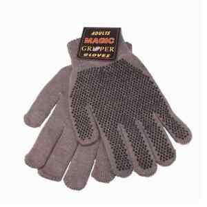 Adults Magic Stretch Gripper Gloves 4 Colours One Size