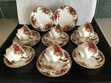 Royal Albert Old Country Rose Trio x 6 PIATTI PIATTINI TAZZE.