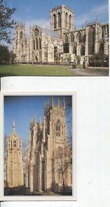 4 Unused Colour York Postcards