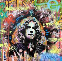 "Dean Russo Art Original Artwork Robert Plant Led Zeppelin 22x22"" On Canvas"