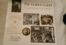 JEWISH THE GOLDEN LAND CALENDAR 76-77 HEBREW PUBLISHING CO 300 YRS JEWISH LIFE