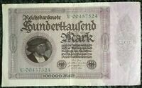 Germany Weimar 100000/100 Thousand Mark 1923 Reichsbanknote