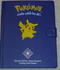 Pokemon Blue Pikachu Binder/Folder Card Holder Cute/RARE-Very Cute Texas Rangers