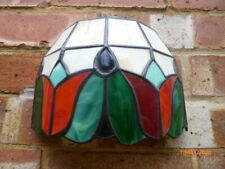 COLLECTABLE : TIFFANY STYLE WALL LIGHT / SHADE : LOVELY CONDITION