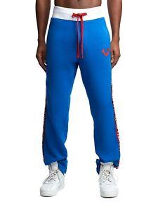 New Mens True Religion Sport Sweatpants/Joggers Royal Blue 101937 Sale Sale!!!!!