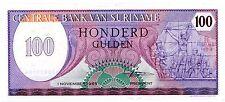 Suriname ... P-128b ... 100 Gulden ... 1985 ... CH*UNC*