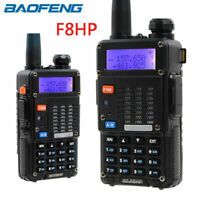 Baofeng F8HP Handheld Walkie Talkie VHF UHF Dual Band Two Way Radio Flashlight
