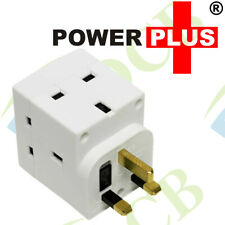 UK Mains 3-Pin Plug Splitter Socket Extender Adapter Block / 240v 13A / Fused