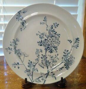 "Antique ""Charm"" George Jones & Sons No. 76274 Blue & White 9 1/2"" Dinner Plate"