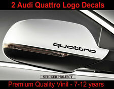 Adesivi AUDI QUATTRO SPECCHIETTO Mirror STICKERS  A4 A5 A6 Q3 Q5 Q7 TT S-line