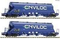 """Fleischmann N 849004 Staubsilowagen-Set """"Gattung Uacs-x"""" ENVILOC - NEU + OVP"""