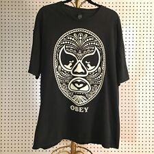 Obey T Shirt Luchador Mask Black XL